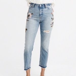 Abercrombie Fitch Annie High Rise Girlfriend Jeans